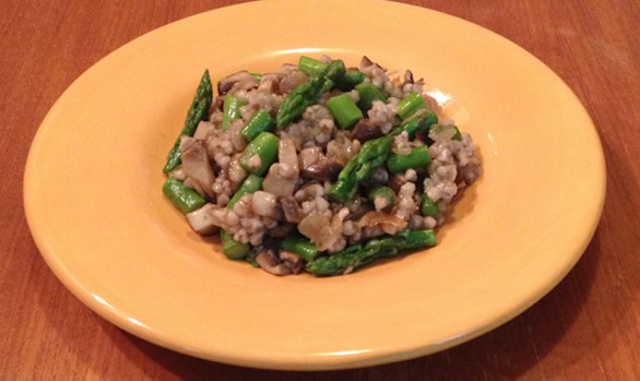 Shiitake & Asparagus with buckwheat