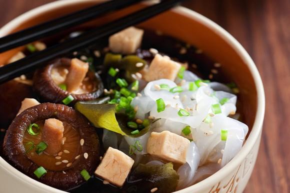 MISO SOUP WITH TOFU AND SHIRATAKI NOODLES