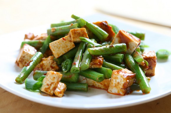 spicy green beans and tofu