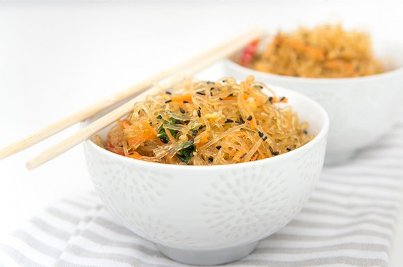 Kelp Noodles With Almond-Ginger Dressing