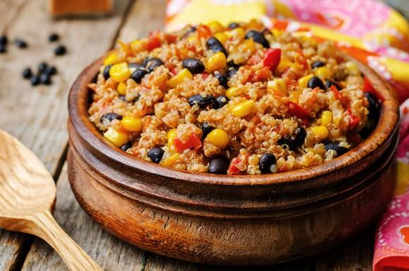 Chili with Quinoa, Black Beans & Corn