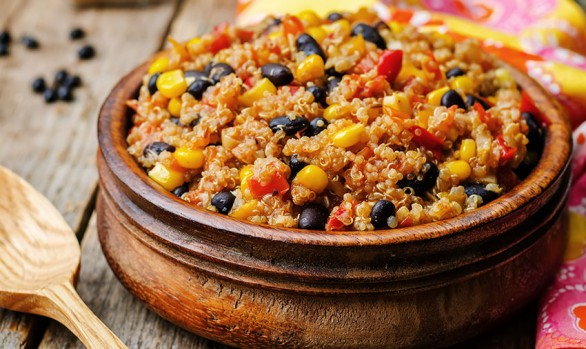 Chili with Quinoa, Black Beans & Corn