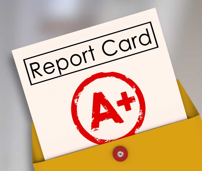 Personal Growth Report Card