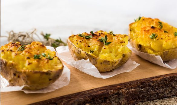VEGAN TWICE-BAKED POTATOES